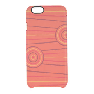 Aboriginal line and circle painting clear iPhone 6/6S case