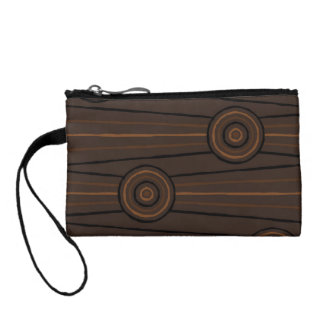 Aboriginal line and circle painting coin wallets