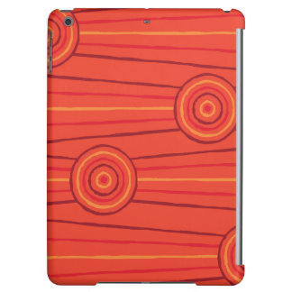 Aboriginal line and circle painting cover for iPad air