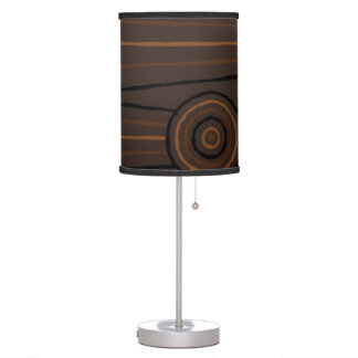 Aboriginal line and circle painting desk lamp