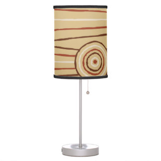 Aboriginal line and circle painting desk lamps