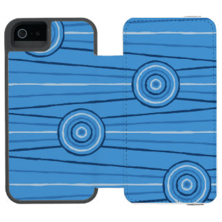 Aboriginal line and circle painting incipio watson™ iPhone 5 wallet case
