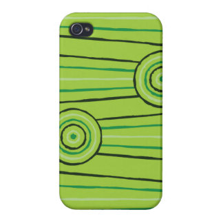 Aboriginal line and circle painting iPhone 4/4S cases