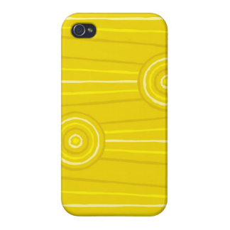 Aboriginal line and circle painting iPhone 4/4S cover
