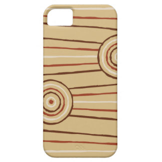 Aboriginal line and circle painting iPhone 5 cases