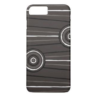 Aboriginal line and circle painting iPhone 7 plus case