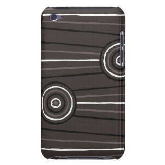 Aboriginal line and circle painting iPod Case-Mate cases