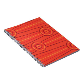Aboriginal line and circle painting note books