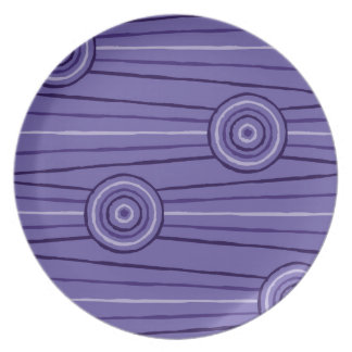 Aboriginal line and circle painting party plates