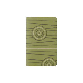 Aboriginal line and circle painting pocket moleskine notebook