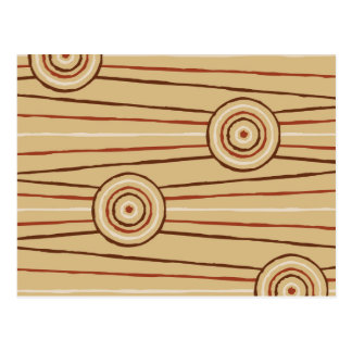 Aboriginal line and circle painting postcard