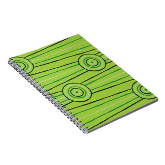 Aboriginal line and circle painting spiral note books