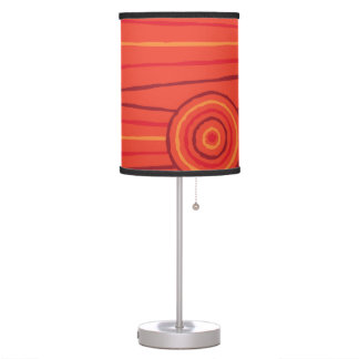 Aboriginal line and circle painting table lamp