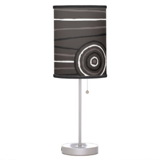 Aboriginal line and circle painting table lamps