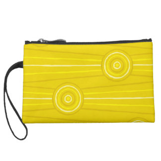 Aboriginal line and circle painting wristlets