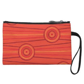 Aboriginal line and circle painting wristlets