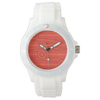 Aboriginal line and circle painting wristwatch