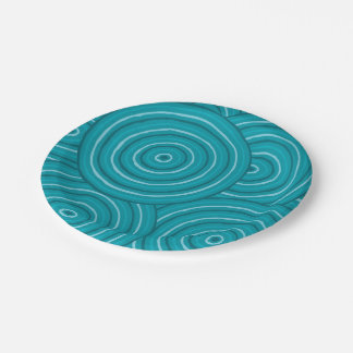 Aboriginal line painting 7 inch paper plate