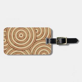 Aboriginal line painting bag tag