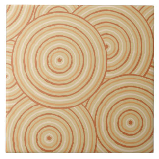 Aboriginal line painting ceramic tile