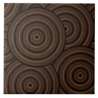 Aboriginal line painting ceramic tiles