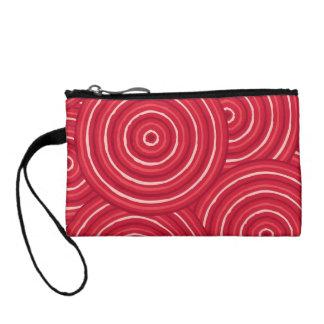 Aboriginal line painting change purses