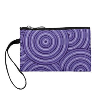 Aboriginal line painting coin purse