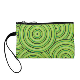 Aboriginal line painting coin purse