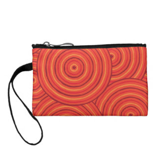 Aboriginal line painting coin wallets