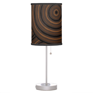 Aboriginal line painting desk lamp