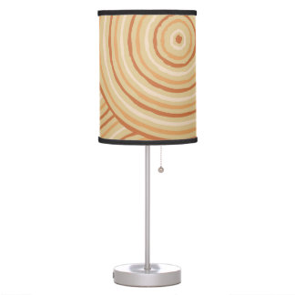Aboriginal line painting desk lamps