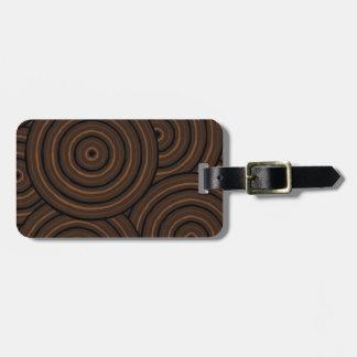 Aboriginal line painting luggage tag