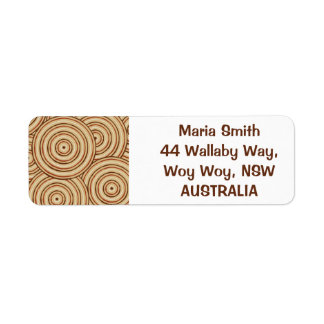 Aboriginal line painting return address label