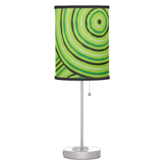 Aboriginal line painting table lamps