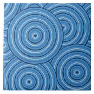 Aboriginal line painting tile