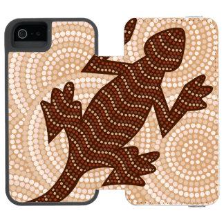 Aboriginal lizard dot painting incipio watson™ iPhone 5 wallet case