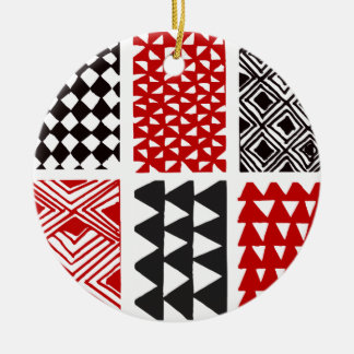 Aboriginal print nº 05 ceramic ornament