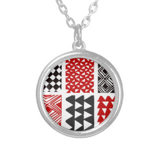Aboriginal print nº 05 silver plated necklace