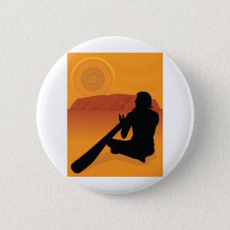 Aboriginal Silhouette 2 Inch Round Button