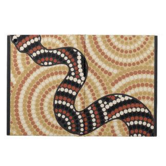 Aboriginal snake dot painting iPad air cover