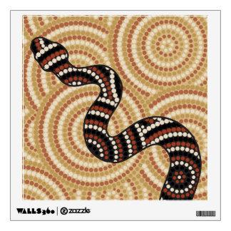Aboriginal snake dot painting wall sticker