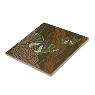 Aboriginal Swallowtail Tile