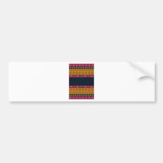 Aboriginal Tribal Pink and Orange Art Bumper Sticker