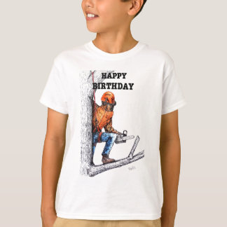 Aborist Tree surgeon Birthday present gift. T-Shirt