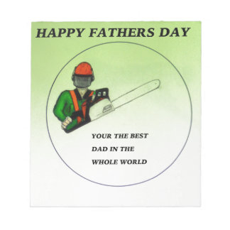 Aborist Tree surgeon Fathers Day present gift. Notepad