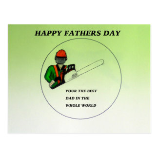 Aborist Tree surgeon Fathers Day present gift. Postcard