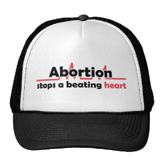Abortion stops a beating heart hats