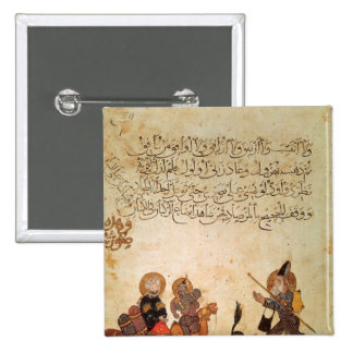 Abou Zayd meets some merchants 2 Inch Square Button