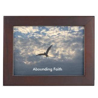 Abounding Faith Bird Keepsake Box