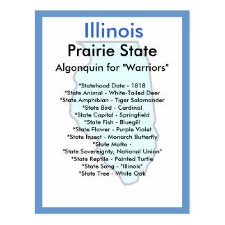About Illinois Postcard